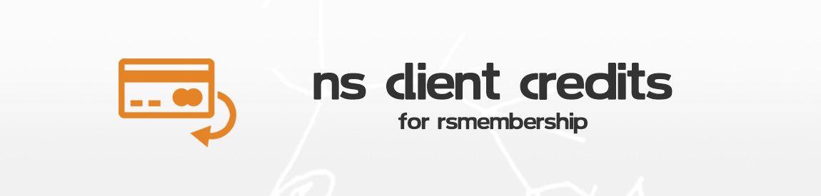 NS Client Credits for RSMembership